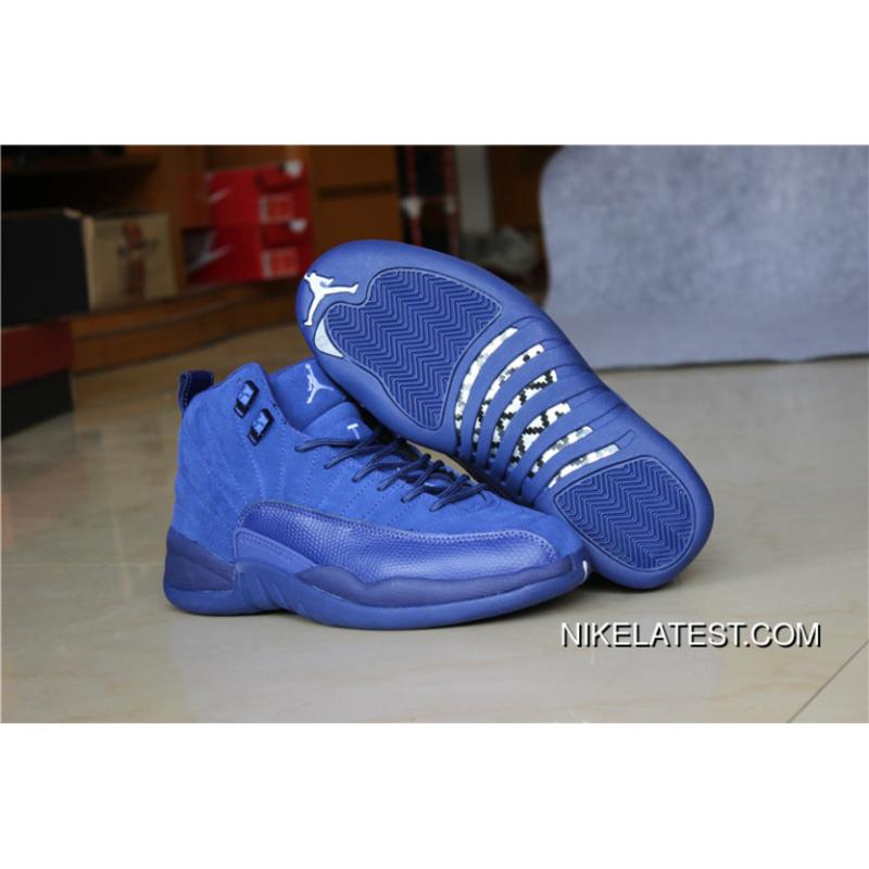 buy online ac71c 71733 Air Jordan 12 Blue Suede Shoe TopDeals